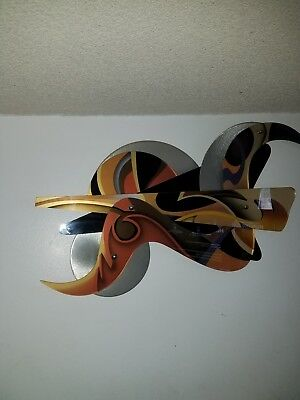 Shlomi Haziza ACRYLIC ART WALL SCULPTURE 58 X 35 3 Approx