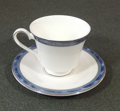 Royal Doulton England Atlanta Fine Bone China Footed Coffee Tea Cup & Saucer EUC
