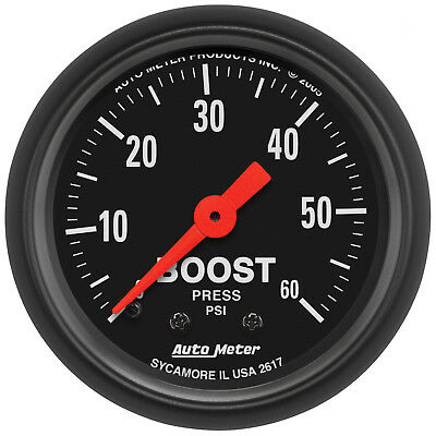 "Autometer 2617 Z-Series 2-1/16"" Boost Gauge 0-60 PSI Mechanical"