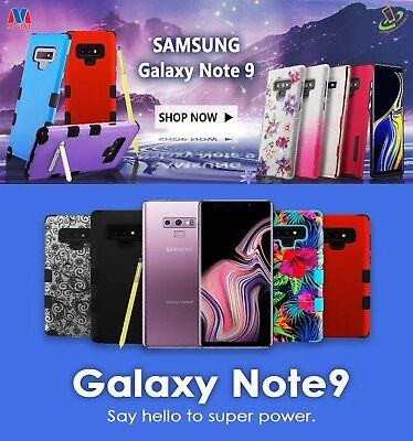 For Samsung Galaxy Note 9 Protective Shockproof Hybrid Rugged Case Cover +Disc
