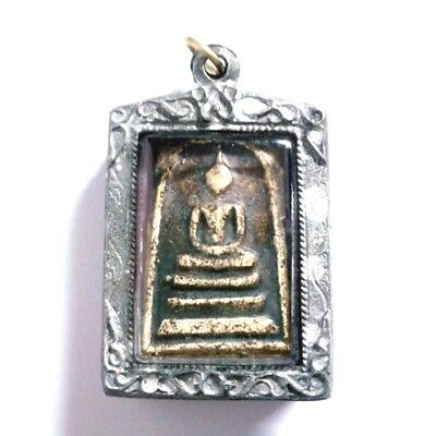 Pendant Necklace Phra Somdej Dungeon Kru Magic Holy Great Kindness Safe All B34