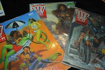 2000 AD FT JUDGE DREAD 3 X VINTAGE COMICS 563 626 + Sci fi special *FREE SHIP*