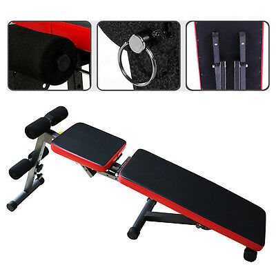 Fitness Weight Bench Flat Incline Decline Dumbbell Home Sport Workout Adjustable