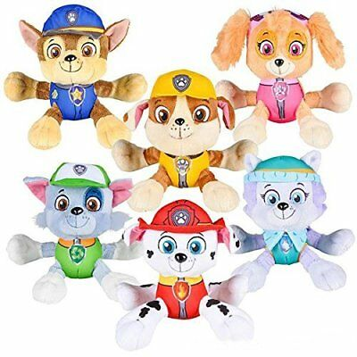 "New 6"" Paw Patrol Plush Stuffed Animal Toy Chase, Rubble,Everest ,Rocky,Mashall"