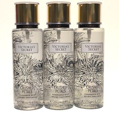 Lot 3 Victoria's Secret Crushed Petals Women Fragrance Mist Body Spray 8.4 Fl Oz
