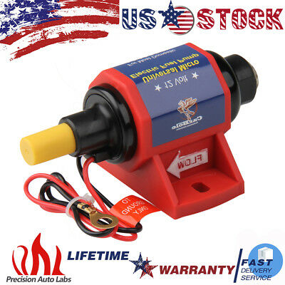 Universal Electric Fuel Pump Metal 12V Low Pressure 35GPH 4-7PSI for Gas Diesel