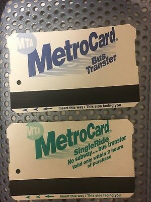 NYC Metrocard Preowed MTA Bus transfer cards For Collection Only Empty
