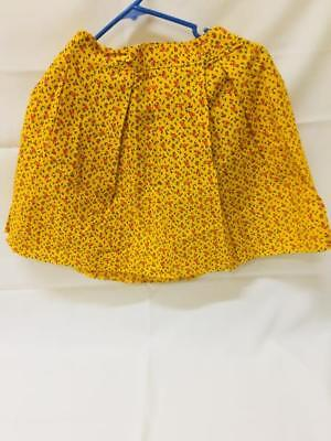 Vintage Hand Made Skirt ~ C1970 Apples XS ~ Yellow Red Apples