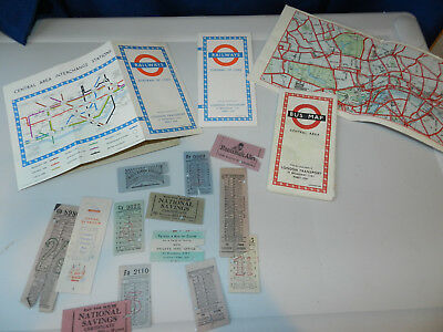 January 1951 London Transport Central Area Bus MapS DIAGRAM OF LINES+TICKETS