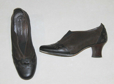Womens size 41 (10) brown & black detailed leather shoes by DJANGO & JULIETTE
