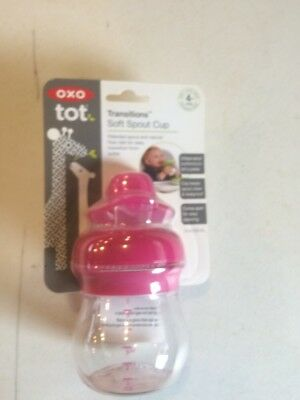 OXO Tot Transitions Soft Spout Training Cup Pink, 6 Ounce
