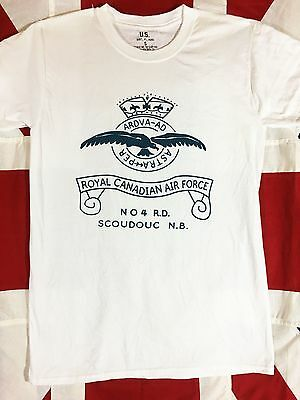 WWII RCAF Royal Canadian Air Force T Shirt Reproduction Spec Tag Mens size S-XL