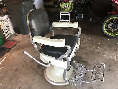 Antique Barber Chair Hercules Berninghaus