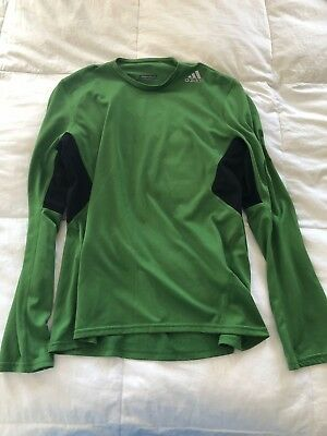 huge discount 7c557 df2f5 ADIDAS RESPONSE CLIMACOOL Men's Athletic Long Sleeve Green Size M Shirt