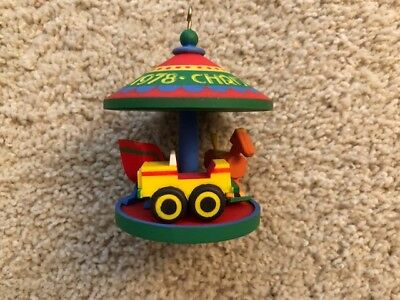 1978 Hallmark ORNAMENT Carousel #1 IN SERIES