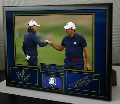 TOMMY FLEETWOOD FRANCESCO MOLINARI SIGNED RYDER CUP 2018 Framed Tribute Print