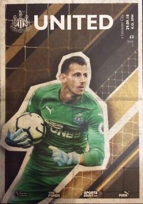 Newcastle United v Leicester City Match Day Programme 2018/19
