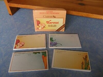 1982 Vintage Current Recipe Cards Harvest Carrots Asparagus Apples Asst 60 cards