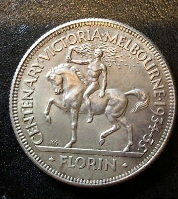 Australian 1934/35 Victoria Centenary Florin, Proof - Like, Type2