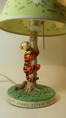 Disney Tigger Lamp *tested & works* Winnie The Pooh 100 Acre Collection shade