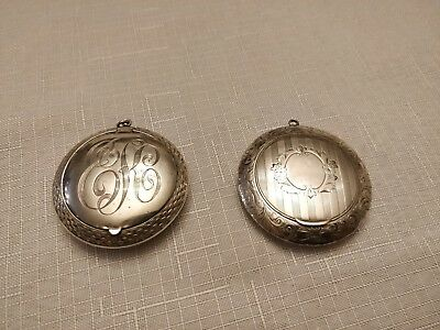 Antique Set of Sterling Silver Compacts
