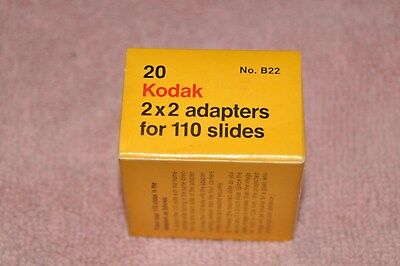 20 KODAK 2 x 2 Adapters for 110 Slides - Made in U.S.A.