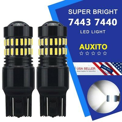 AUXITO 7440 7443 Backup Reverse T20 LED Light Bulb 4014smd 6000K HD Lens 2400LM