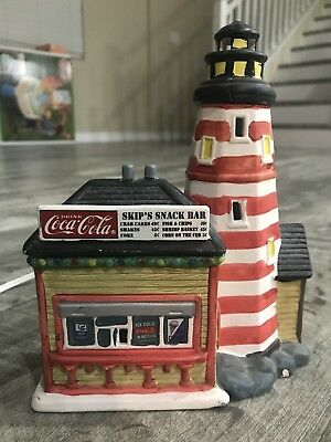 Coca Cola Town Square Collection, Skip's Snack Bar Lighthouse (Village) 1995