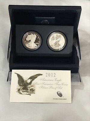 2012 American Eagle San Francisco Two-Coin Silver Proof Set - See Pics