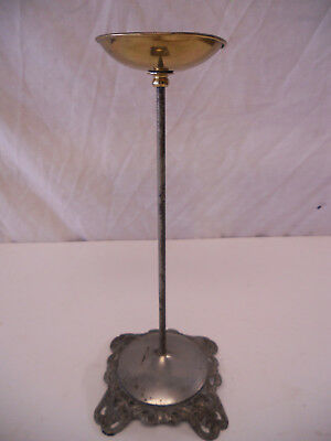 "Antique Nickel Brass Cast Iron Hat Stand Store Display 12"" Victorian Vintage"
