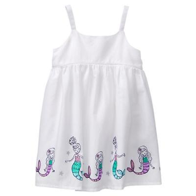 NWT Gymboree Jump Into Summer Mermaid White Sleeveless Girls Dress 2T 3T 4T 5T