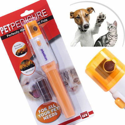 USA STOCK Pet Dog Cat Puppy Claw Toe Nail pedicure Grinder Clipper Trimmer Tool