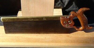 Tyzack & Sons Tenon Saw - Sharpened - Brass Back Vintage Saw