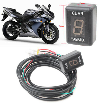 Motor 1-6 Speed Gear LED Red Display Indicator Fit Yamaha R1 R6 FZ6 FZS600 New