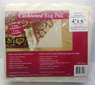 NEW Rug Saver Cushioned Rug Pad mat for area rugs non slip 4x6