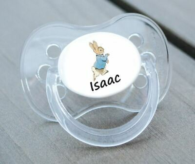 Personalised Dummy Pacifier Soother, All Teats,Sizes & Colours, Rabbit 2