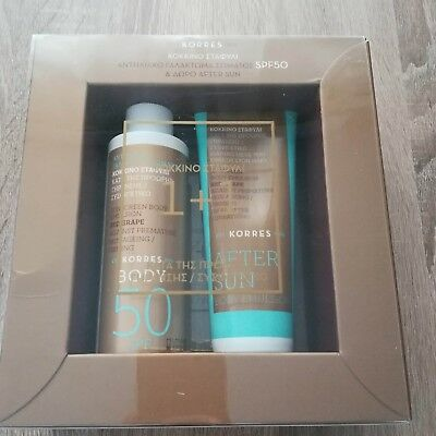 Korres Red Grape Sunscreen Body Emulsion 150 ml & After Sun Body Emulsion 125 ml