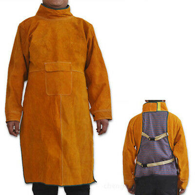 1 Pcs Flame Retandancy Electric Welding Apron Cowhide Men Women Work Clothes