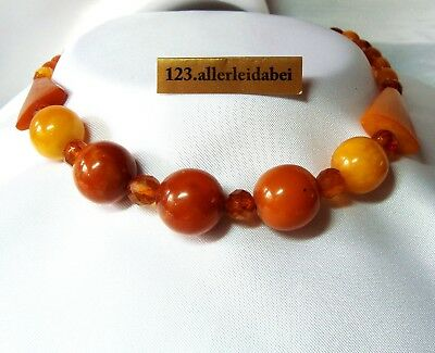 alte Art Deco Butterscotch Bernsteinkette real old amber / BL 474