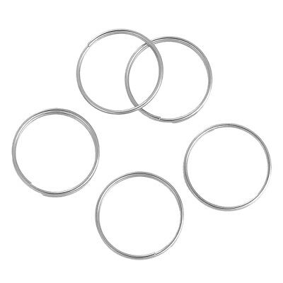 "30PCs Stainless Steel Split Jump Rings Findings Round Silver Tone 20mm( 6/8"")"