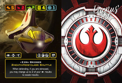 X-Wing Miniatures - Custom Alt Card - Ezra Bridger (Sheathipede-class Shuttle)