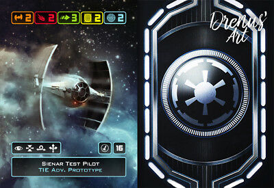 X-Wing Miniatures - Custom Alt Card - Sienar Test Pilot (TIE Adv. Prototype)