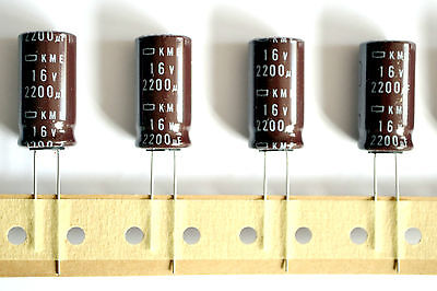 5 pieces, 2200uF 16v 105°C Chemicon(JAPAN) KME, Electrolytic Capacitor -ref:148