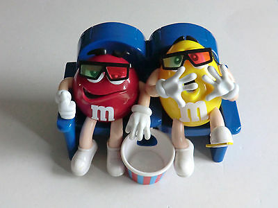 M&M M&M's Spender Figur Red und Yellow im Sessel Kino siehe Fotos