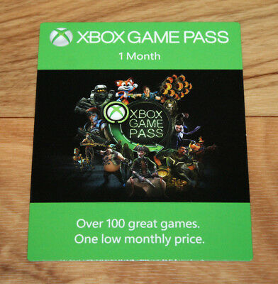 Xbox One Game Pass 1 Month Card / 1 Monat Karte