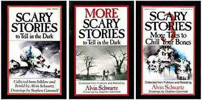 3 Book Set SCARY STORIES to Tell in the Dark 1 2 3 by Alvin Schwartz NEW SEALED