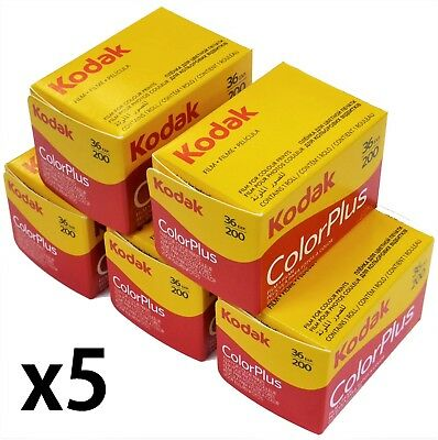 Kodak 6031470 135/36 ColorPlus 35mm 135 36 200 asa  Film 5 Rolls Exp 07- 2020