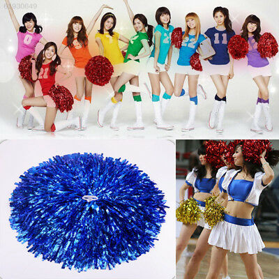 9C67 1Pair Handheld Creative Pom Cheerleader Cheerleading Cheer Pom Dance Club D