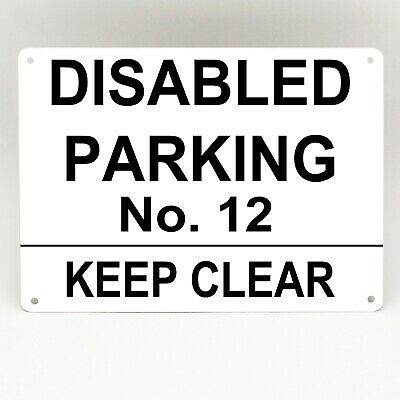 DISABLED PARKING Metal SIGN PERSONALISED Please Keep Clear DRIVEWAY Garage