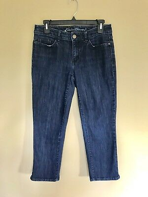 Lovely Eddie Bauer Womens Pants Denim Curvy Capri Cropped Jeans Stretch Size 4 Clothing, Shoes & Accessories Clothing, Shoes & Accessories a49
